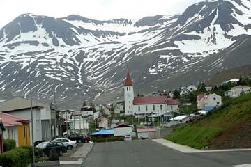Siglufjördur im Norden von Island