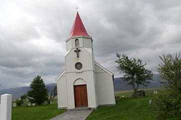 Kirche beim Grassoden-Hof Glaumbaer, Nordisland