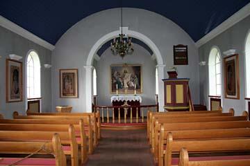 in der Kirche beim Grassoden-Hof Glaumbaer, Nordisland