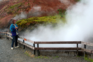 im Geothermalgebiet bei Reykholt, Westisland