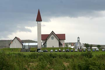 Kirche in Reykholt, Westisland