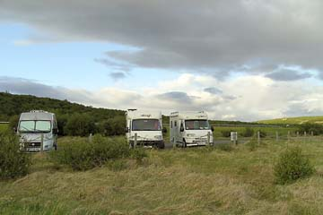 Parkplatz beim Hraunfoss, nahe Reykholt, Westisland