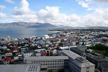 Reykjavik, Aussicht auf die Stadt vom Turm der Hallgrimskirche, Island, Südwesten