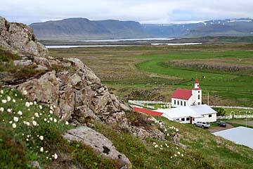 """Aussicht beim Berg """"Helgafell"""" nahe Stykkisholmur, Island, Westen"""
