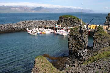 Hafen von Arnarstapi, Halbinsel Snaefellsnes, Westisland