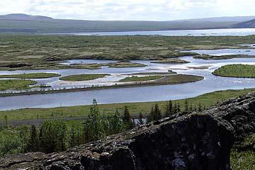 Pingvellir-See im Nationalpark Pinvellir, Unesco-Kulturerbe, Island, Westen