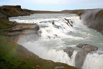 Gullfoss, goldener Wasserfall, Island, Südwesten
