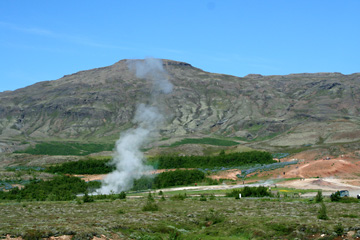 Geysir Stokkur nach dem Ausbruch, Südisland