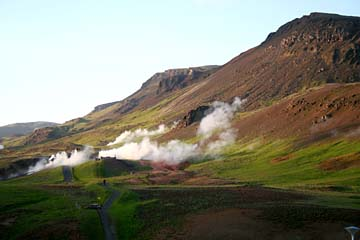 im Geothermalgebiet Hveragerdi, Südisland
