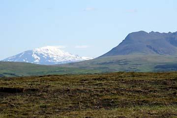 Blick zum Vulkanberg Hekla, Südisland