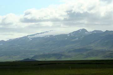 Landschaft bei Hvolsvöllur, Südisland