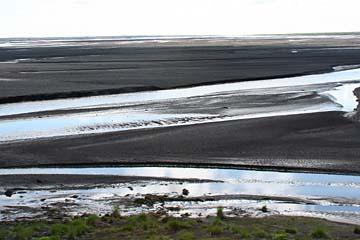 Sanderflächen im Süden von Island