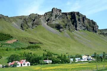 Landschaft bei Kirkjabaejarklaustur im Süden von Island