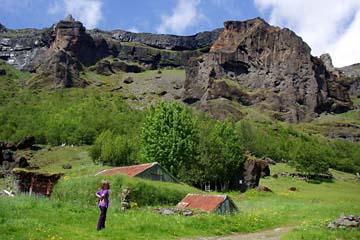 Torfhof Nupsstadur im Süden von Island