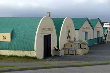 Fischhallen in Höfn in Ostisland