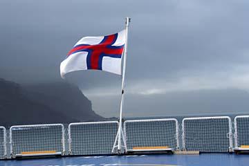 Rückblick auf Island bei stürmischem Wetter