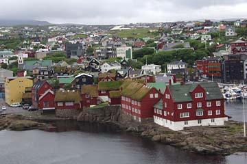 Blick auf Torshavn, Hauptstadt der Färöer-Inseln, Dänemark