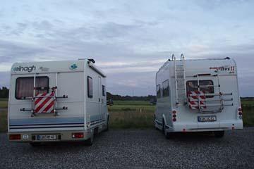 unser Übernachtungsplatz in Fjerritslev, Dänemark