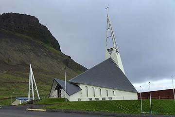 Kirche in Olafsvik, Halbinsel Snaefellsnes, Island, Westen