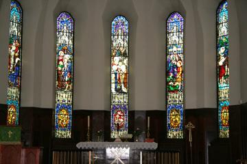 Kirchenfenster der Kirche in Akureyri, Nordisland