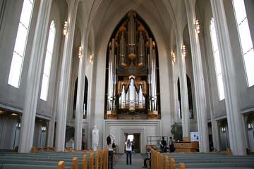 Orgel in der Hallgrimskirche in Reykjavik, Südwestisland