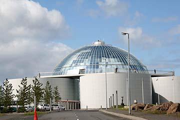Reykjavik, Perlan, Heißwasserbehälter mit Glaskuppel, Island, Südwesten