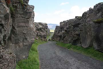 Pingvellir, begehbarer Graben zwischen Eurasien und Amerika,UNESCO Weltkulturerbe, Island, Westen