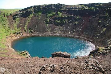 Krater Kerio mit Kratersee, Südisland