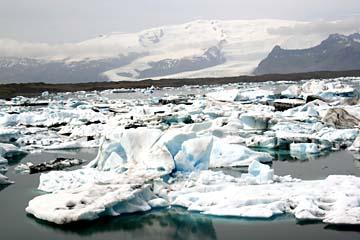 Gletscherlagune Jökulsarlon, Ostisland