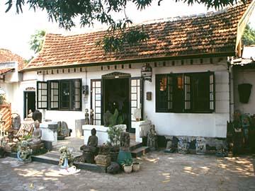 Ida's Place eine Querstraße unterhalb der Jl. Prawirotaman in Yogyakarta, Java