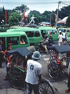Bogor Stadt beim Taman Topi in Westjava, Indonesien