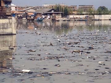 der Müll im alten Hafen von Batavia ist unbeschreiblich, Jakarta, Java