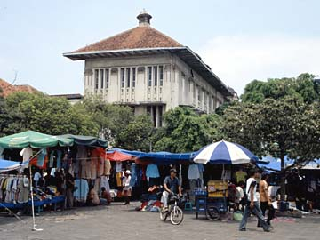 im alten Batavia, das alte Herz von Jakarta auf Java