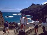 Bilck auf Teneriffa von der Küste von La Gomera aus