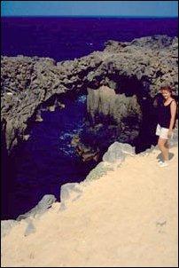 ein Lava-Bogen an der Punta Gorda auf La Graciosa