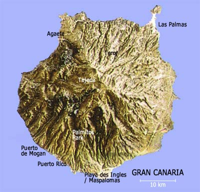 Map Of Gran Canary Islands