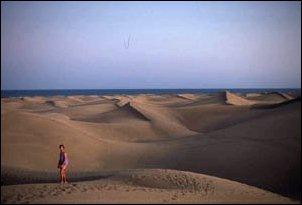 die Dünenlandschaft bei Maspalomas im Süden von Gran Canaria, Kanaren
