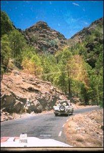 bei der Jeep-Safari in Landesinneren von Gran Canaria