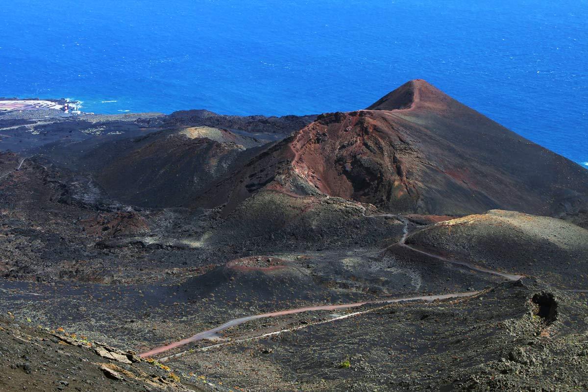 Der Vulkan Teneguia im Süden von La Palma ist in den 70er Jahren zuletzt ausgebrochen