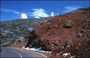 die Straße hoch zum Roque, La Palma, Kanaren