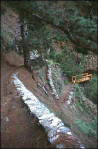 der Wanderweg hinein in die Caldera, La Palma, Kanaren