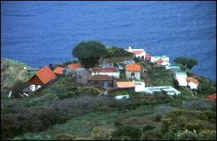 das Dorf El Tablado, La Palma, Kanaren