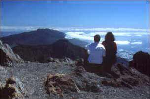 Ausblick vom Roque de la  Muchachos auf La Palma, Kanaren