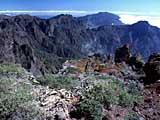 die Aussicht vom Roque des los Muchachos auf La Palma, Kanaren
