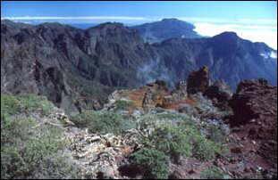 Panorama vom Roche de los Muchachos, La Palma, Kanaren