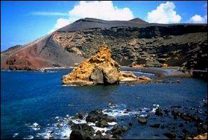 vulkanische Felsformationen auf Lanzarote, Kanaren