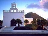 Eine Dorfkirche im Zentrum von Lanzarote auf den Kanaren