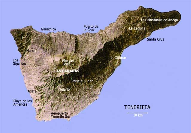 Teneriffa Karte Spanien.Teneriffa Die Vielseitigste Der Kanarischen Inseln