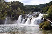 Skradin Wasserfall im Krka-Nationalpark in Dalmatien