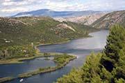 Krka-Fluß im Krka Nationalpark in Kroatien